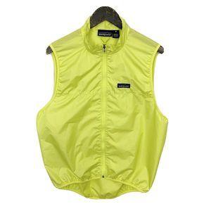 Patagonia Neon Yellow/Green Full Zip Sleeveless